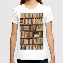 Bookshelf Books Library Bookworm Reading T-shirt
