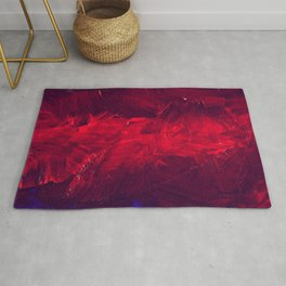 Modern Art - Dark Red Throw Pillow - Jeff Koons Inspired - Postmodernism - Corbin Henry Rug