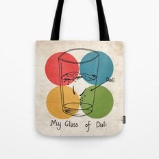 This is my glass of Dali Tote Bag
