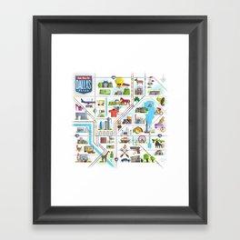 Take Time For Dallas Framed Art Print