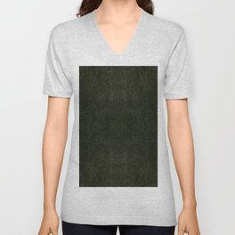 Green porous leather sheet texture abstract Unisex V-Neck