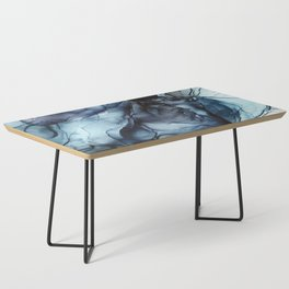 Blush and Darkness Abstract Paintings Coffee Table