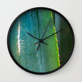Scarred Succulent Wall Clock