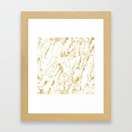 Gold finery pattern Framed Art Print