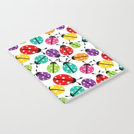 Lots of Crayon Colored Ladybugs Notebook