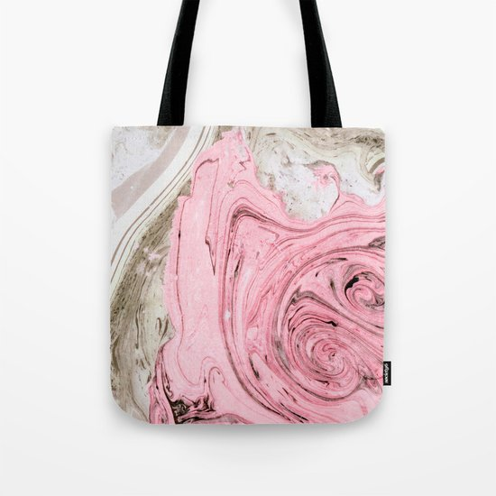 Nude+ Pink Marbling Art #society6 #decor #buyart Tote Bag