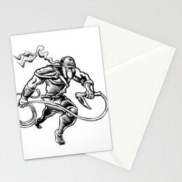 hand drawn Sketchy illustration of a ninja Stationery Cards