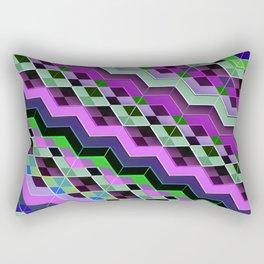 3d ZigZag patterns Rectangular Pillow