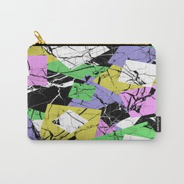 Pastel Marble Tiles Abstract Pattern Carry-All Pouch