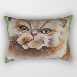 Art, oilpainting persian cat Rectangular Pillow