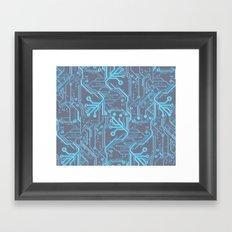 1982 Blue Framed Art Print