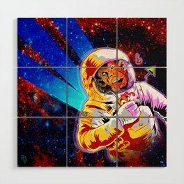 SPACE CHIMP Wood Wall Art