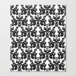 primrose bw pattern Canvas Print