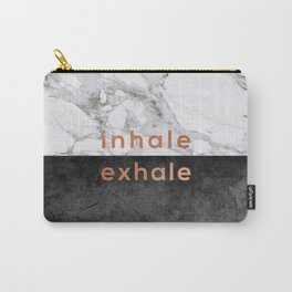 Inhale Exhale Copper Carry-All Pouch