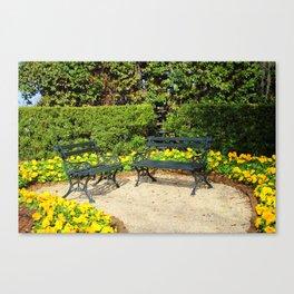 Yellow Poppy Garden Canvas Print
