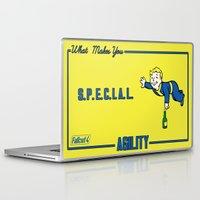fallout Laptop & iPad Skins featuring Agility S.P.E.C.I.A.L. Fallout 4 by sgrunfo