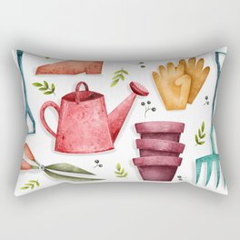 Garden Tool Illustration Rectangular Pillow
