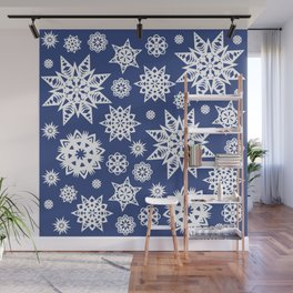 Winter Snowflakes Wall Mural