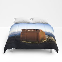 Miles high trash can Comforters
