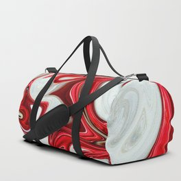 Red abstract liquid shapes Duffle Bag