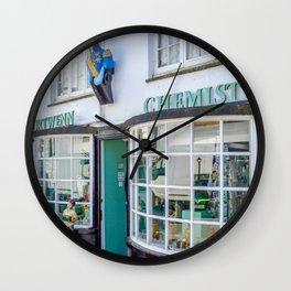 Port Isaac - Doc Martin's Portwenn Chemist Wall Clock