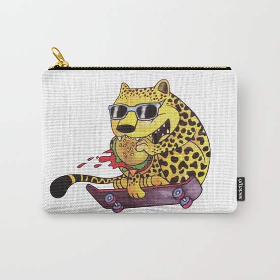 Skating Cheetah Carry-All Pouch