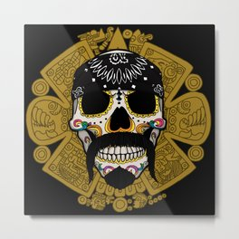 Cholo Sugar Skull Metal Print