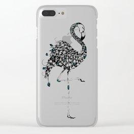 Poetic Flamingo Clear iPhone Case
