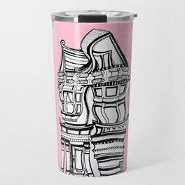 Distortions in Pink II Travel Mug