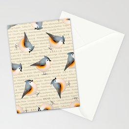 Tufty baeolophus Stationery Cards