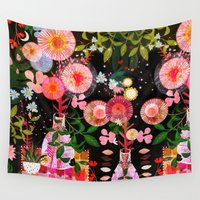 carousel Wall Tapestries featuring carousel by Danse de Lune