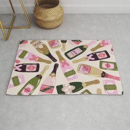 French Champagne Collection – Pink & Green Rug