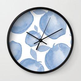 Dream Big Watercolor Apple Wall Clock