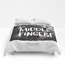 Middle Finger! Comforters