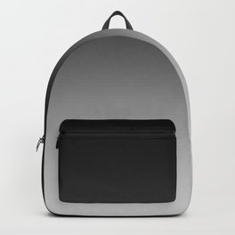 Black to Gray Horizontal Linear Gradient Backpack
