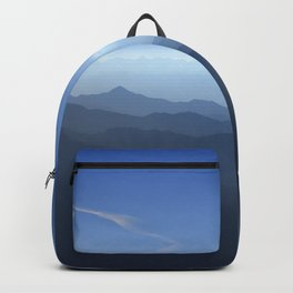 Blue dreams. Misty mountains Backpack