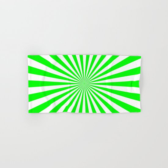 Starburst (Green/White) Hand & Bath Towel