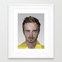 jesse pinkman Framed Art Prints featuring Jesse Pinkman by Guillermo Carvajal