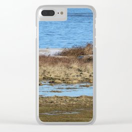 At the beach 3 Clear iPhone Case