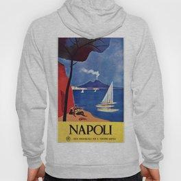 Napels Italy retro vintage travel ad Hoody