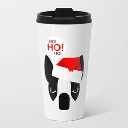 Santa Boston Terrier Travel Mug
