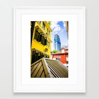 singapore Framed Art Prints featuring Singapore by Jiunn