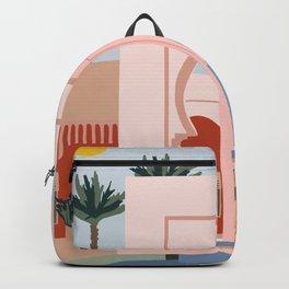 traveling via illustration Backpack