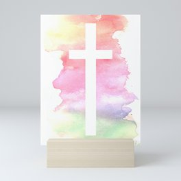 Cross- Landscape / Sunset Mini Art Print