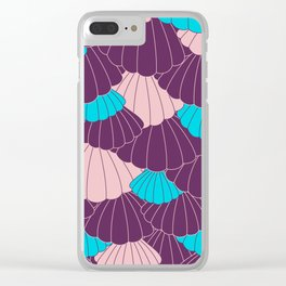 Scallop Abstract - Purple, Pink, Blue Clear iPhone Case