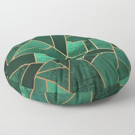 Emerald and Copper Floor Pillow