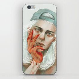 hold my dark thoughts iPhone Skin