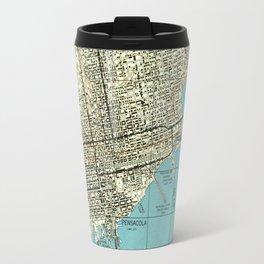 Vintage Map of Pensacola Florida (1944) Travel Mug