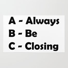 ABC Always Be Closing Rug