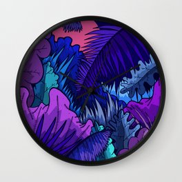 A warm jungle night Wall Clock